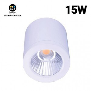 """Candeeiro de teto CCT mini """"GESS"""" COB 15W IP54"""