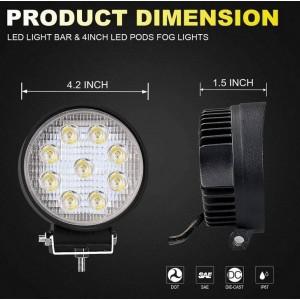 Foco LED para maquinaria, automóvel e náutica 27W -1400lm - Ângulo Aberto
