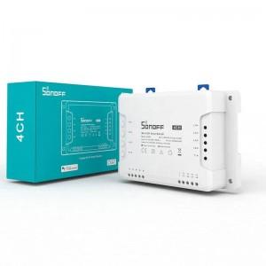 SONOFF 4CH Interruptor WiFi de 4 canais 10A para Smart Home