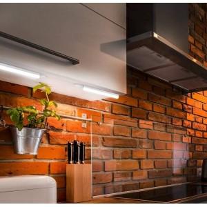 Luminária régua com tubo integrado LED T5 30cm 4W opalino