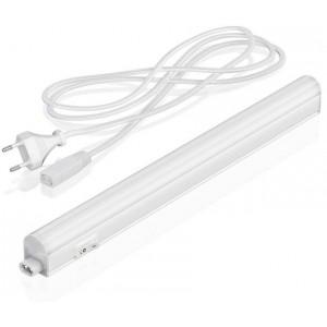 Luminária régua com tubo integrado LED T5 60cm 8W opalino
