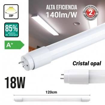 Tubo LED T8 120cm 18W vidro opalino