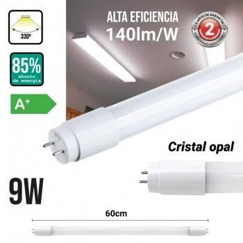 Tubo LED T8 60cm 9W vidro opalino