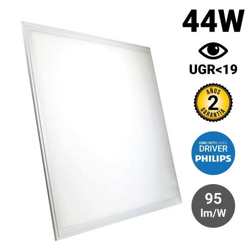 Painel de LED encastrável slim 60X60cm 44W 3960LM UGR19 Philips Driver