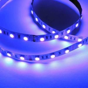 Fita de LED 12V-DC 72W 10  mm multicor RGB IP20 (SMD5050 60ch/m) Rolo 5 metros