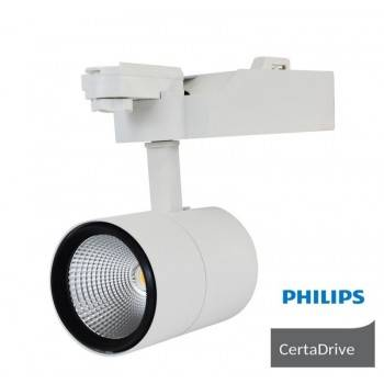 Foco projetor LED 40W 3600LM para Carril monofásico