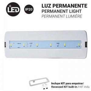 Luz de Emergência Permanente 3W e 250LM 3 horas de autonomia