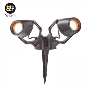 Foco LED duplo CCT com estaca FUMAGALLI Minitommy 2L GU10 7W