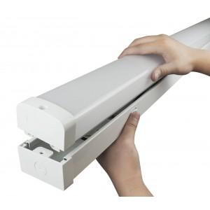 Luminária linear LED CCT 20W 60cm com seletor de temperatura de cor