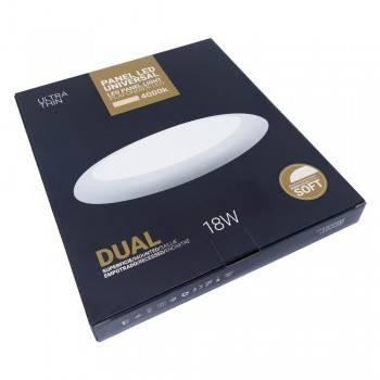 Plafón LED 18W diâmetro ajustável para superfície e encastrável