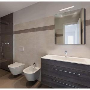Aplique de espelho para casa de banho 6W opalino tubular 40cm