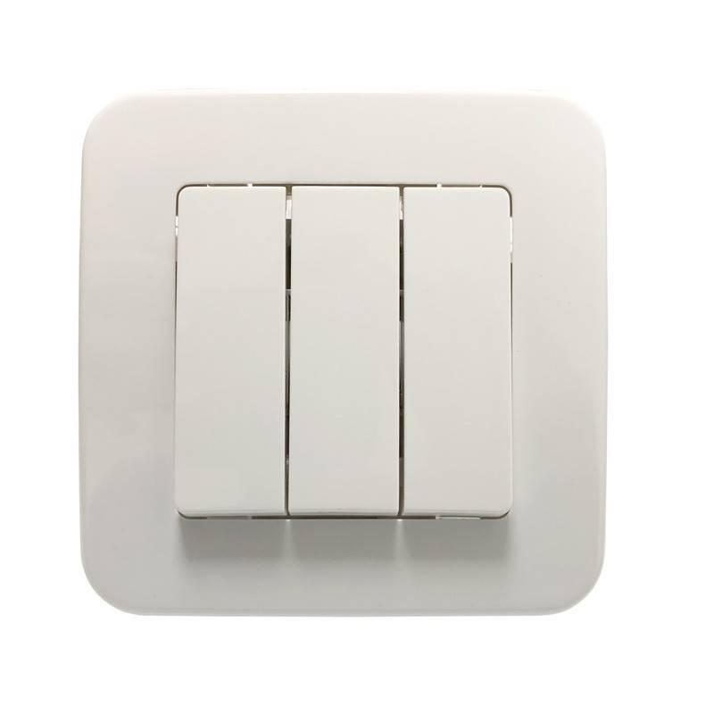 Mecanismo interruptor encastrável de 3 peças