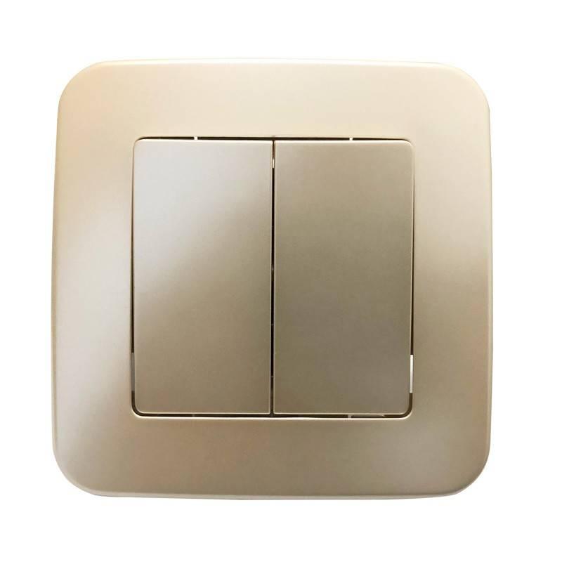 Mecanismo de interruptor embutido de duas peças