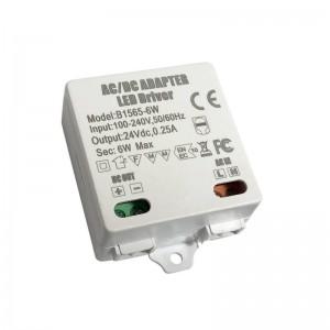 Driver de tensão constante ou transformador 24V/DC 6W 0,25A 100-240V