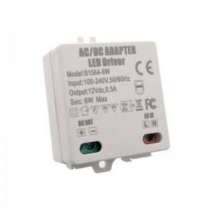 Driver ou transformador de voltagem constante 12V DC 0,5A 6W 100-240V