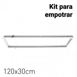 Kit de moldura de encastrar para painéis de LED 120x30