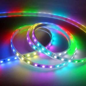 Fita de LED IC digital 12V 72W multicolor RGB IP67 (SMD5050 60ch/m) rolo 5 metros