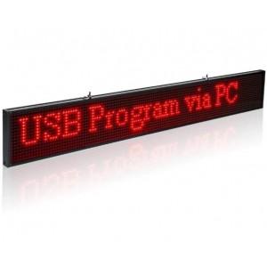 Letreiro LED alta luminosidade vermelha 1300x95mm WIFI / USB