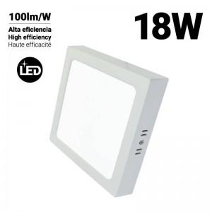 Plafón LED quadrado DOB 18W Alta Eficiência