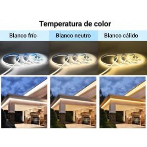 Fita LED COB 24V-DC 12W/m 8mm IP20 - Rolo 10 ou 5 METROS