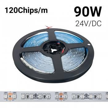 Fita LED de cor única 24V-DC 90W IP20 Rolo 5 metros