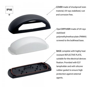 Aplique de parede LED FUMAGALLI FRANCY E27 6W IP66