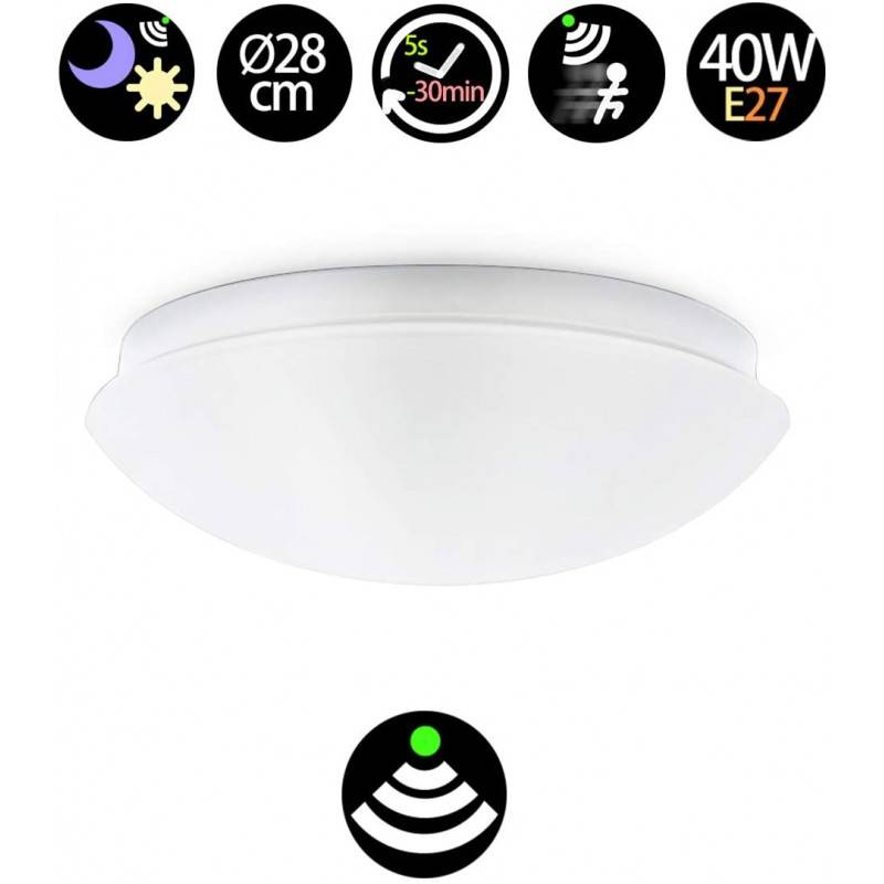 Plafón LED de superfície com sensor de movimento - E27 IP44