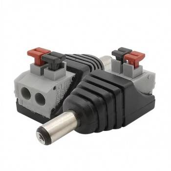 Conector ficha Jack RCA Macho ligação rápida para fita LED