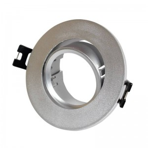 Aro downlight encastrável circular basculante GU10, MR16