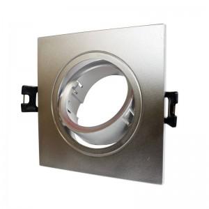 Aro downlight encastrável, quadrado e basculante GU10, MR16