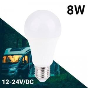 Lâmpada 12-24V 8W E27 A60 para caravanas, camping e barcos