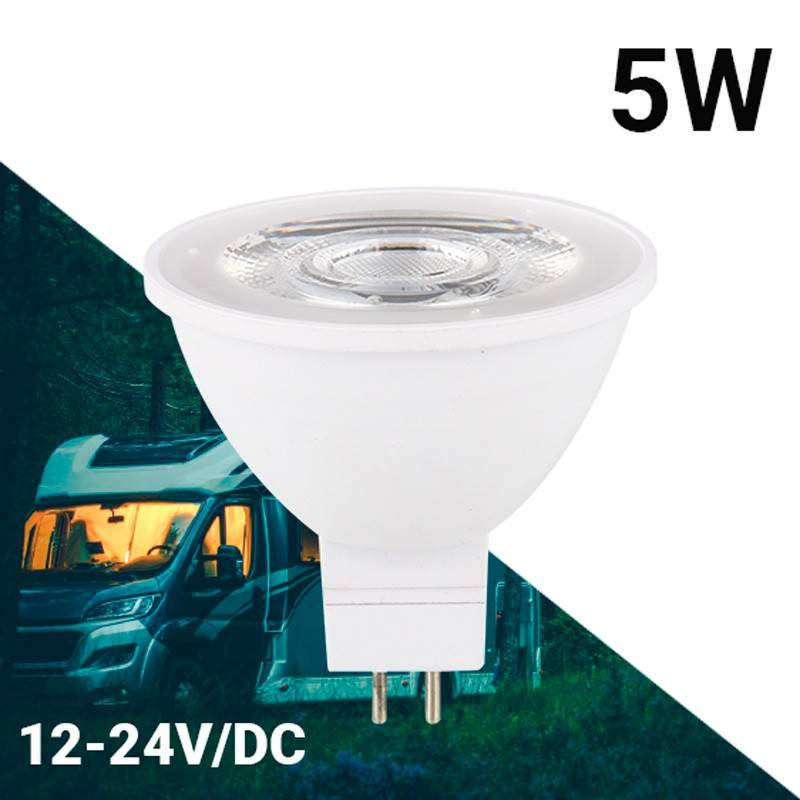 Lâmpada GU5.3 LED MR16 10-30V 5W