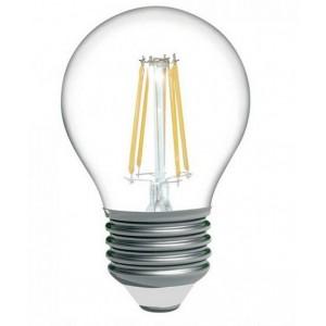 Lâmpada LED esférica de filamento E27 6W G45 720lm