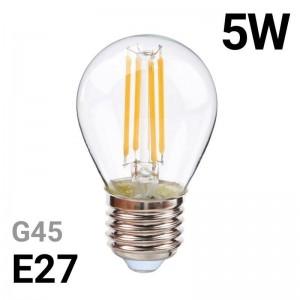 Lâmpada de filamento LED E27 5W G45