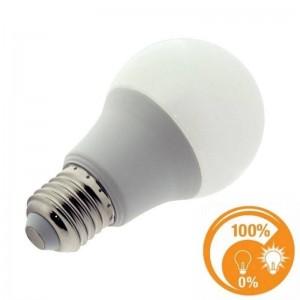 Lâmpada LED E27 10W A60 dimável