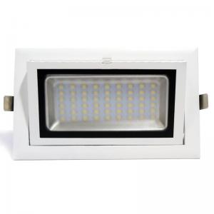 Downlight LED retangular basculante 38W 90°
