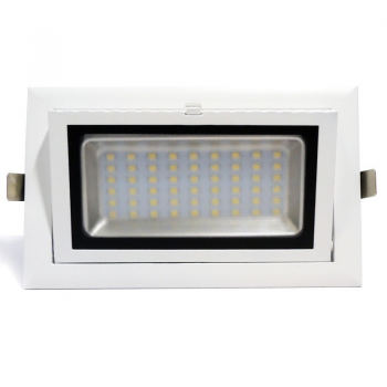 Downlight LED retangular basculante 38W 90°