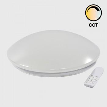 Plafón LED circular 40W com controlo de temperatura de brancos