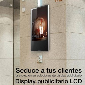 """Painel display digital LCD Full HD 22"""" para elevadores e parede"""