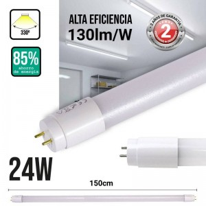 Tubo LED T8 24W 150cm nano PC fosco