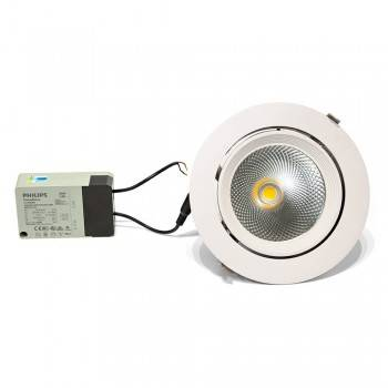 Downlight LED circular encastrável basculante 32W 60 °