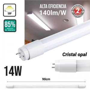 Tubo LED T8 90 cm 14W vidro...