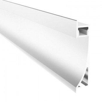 Perfil encastrável iluminador de parede rodapé 26x78mm (2m)