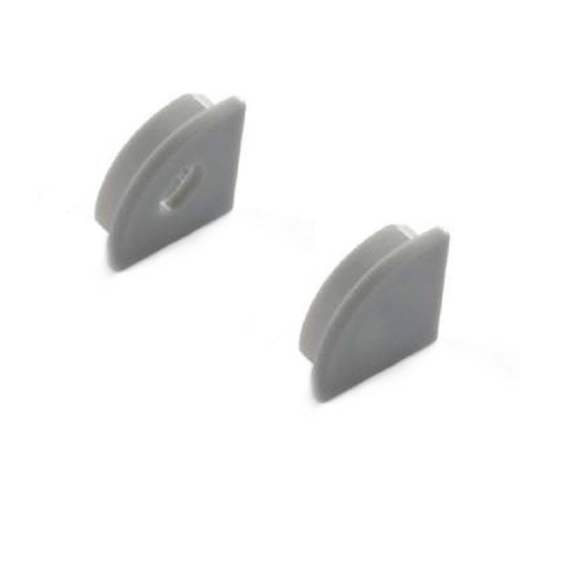 Tampas laterais perfil de superfície 16x16mm de canto (1un)