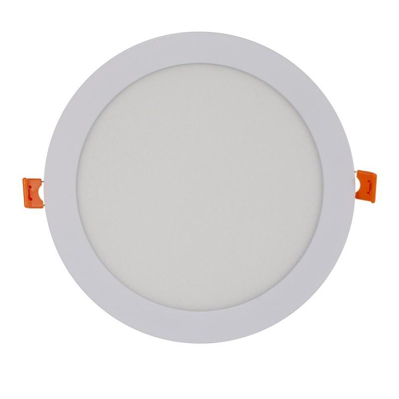 Placa downlight LED encastrável circular 18W