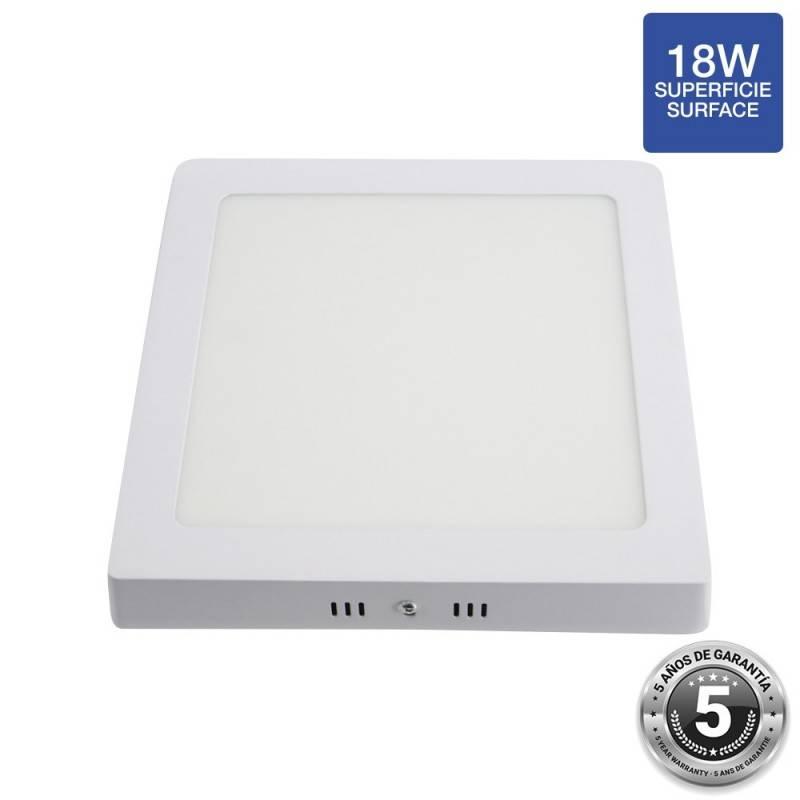 Plafón LED quadrado de superfície 18W - 5 anos de garantia