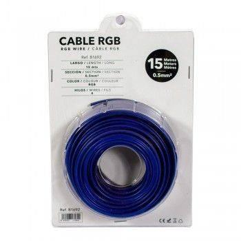 Cabo RGB de 4 fios para instalações a 12-24V - Rolo de 15 metros