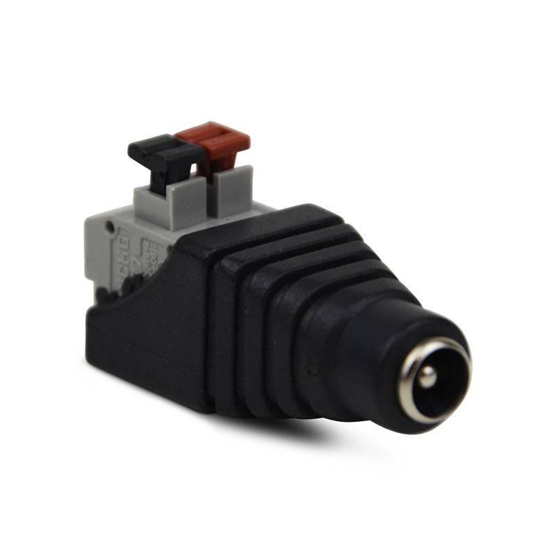 Conector ficha  Jack RCA Fêmea ligação rápida para fita LED