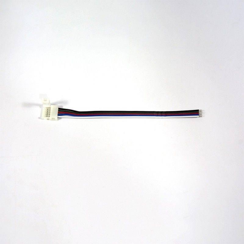 Cabo conector rápido para início de fitas LED RGBW 12/24V
