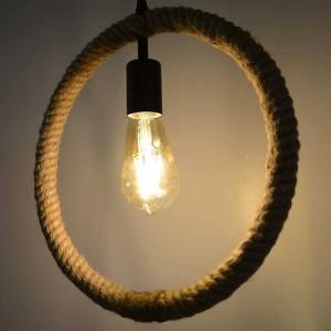 "Candeeiro Suspenso de cânhamo ""HEMP LAMP"" corda"